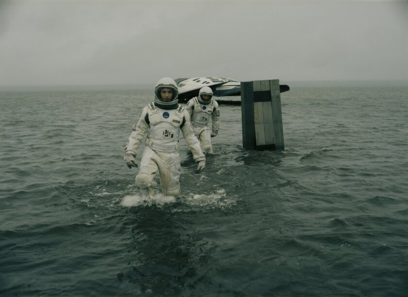 """Anne Hathaway and Wes Bently in """"Interstellar."""""""
