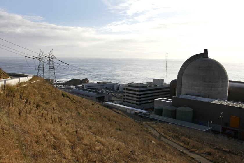 One of two reactors at Pacific Gas and Electric's Diablo Canyon nuclear plant, shown in 2008.