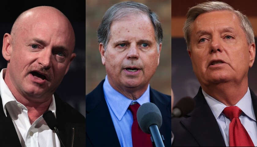 Mark Kelly, Doug Jones, Lindsey Graham