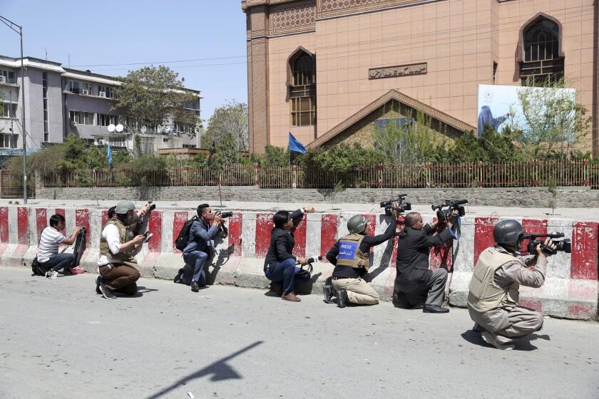 Afghanistan Media Protest