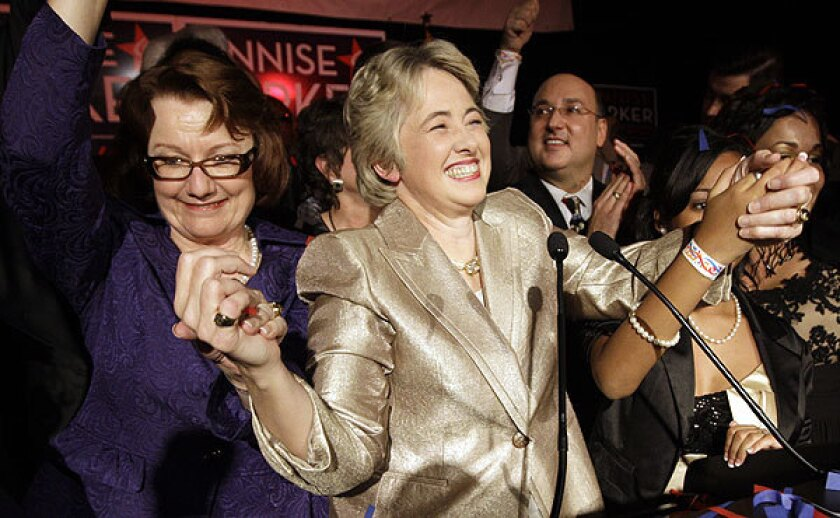 Houston Mayor Annise Parker became annoyed with state officials this week after her daughters application for a road test was denied because she indicated she has two mothers. Parker is openly gay and lives with her domestic partner Kathy Hubbard.