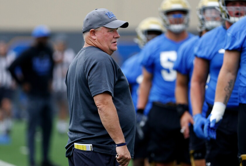 Chip Kelly is heading into his third season as UCLA football coach.
