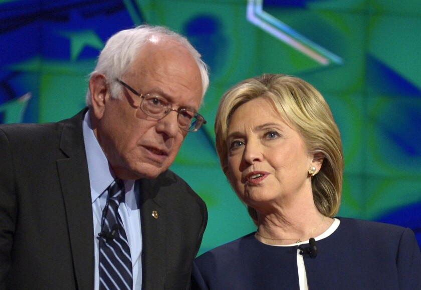 Bernie Sanders and Hillary Rodham Clinton both oppose the Keystone XL pipeline, but their opposition is not universally shared among Democrats in swing states.