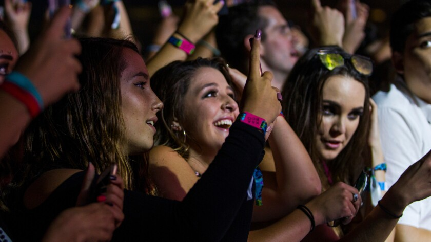 Fans take in the Chainsmokers at a recent concert in Del Mar.