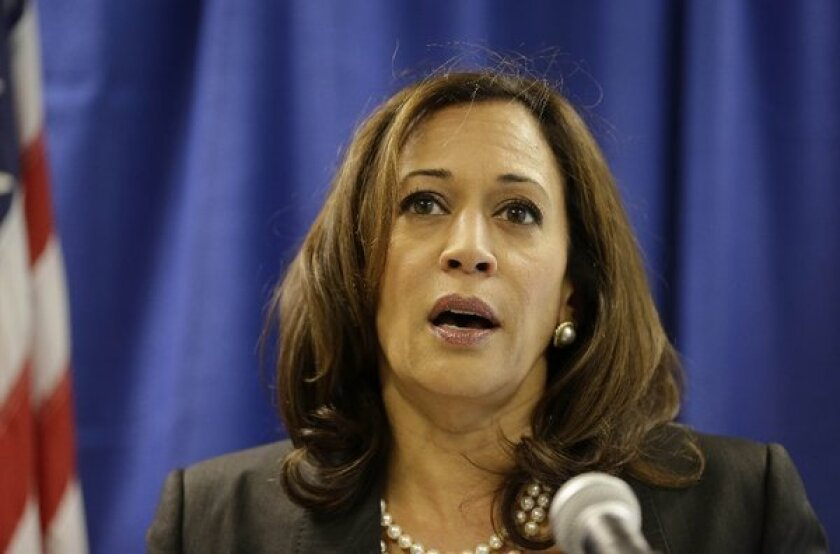 California Atty. Gen. Kamala Harris, shown above, has accused a Fresno family and two attorneys of abusing a squatters-rights law to steal 23 California properties.