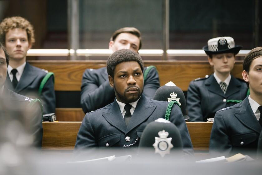 """John Boyega as Leroy Logan in """" Red, White and Blue."""""""