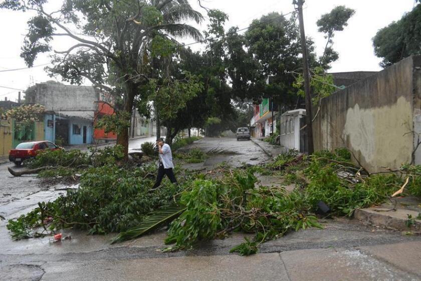 Vista general de las afectaciones causadas por las fuertes lluvias en la ciudad de Coatzacoalcos, en el estado de Veracruz (México). EFE/Archivo