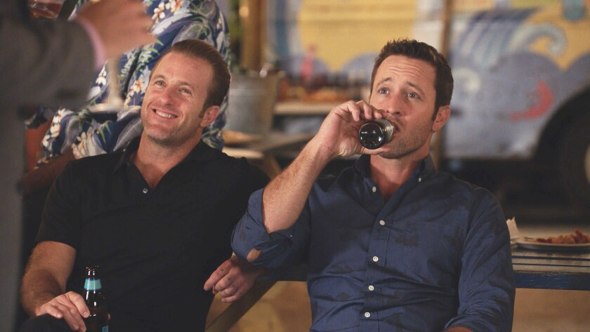 CBS considered Kim and Park supporting actors to the show's two white leading men, Scott Caan, left,