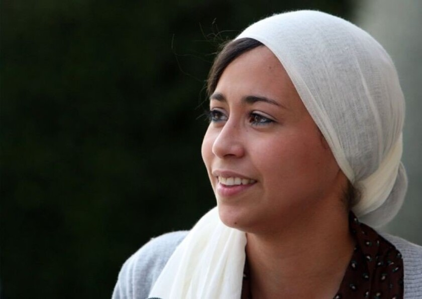 Samantha Elauf of Tulsa, Okla., shown in 2011, says she was turned down for a job by Abercrombie & Fitch after she showed up at her job interview wearing a head scarf.