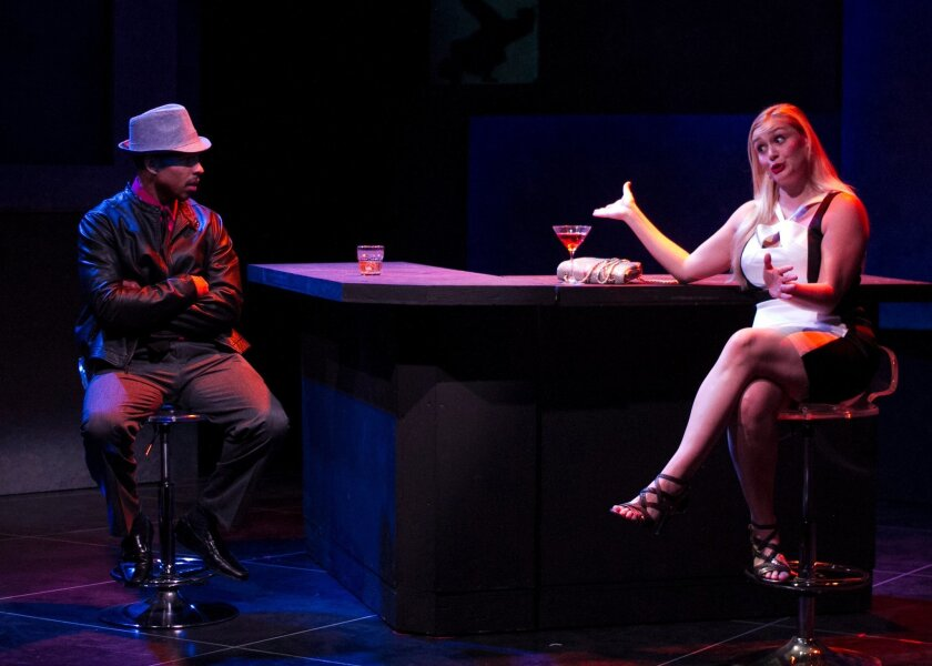 """Gerard Joseph and Jacque Wilke in """"Honky"""" at San Diego Rep."""