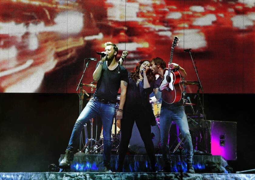 Lady Antebellum, from left, Charles Kelley, Hillary Scott and Dave Haywood.