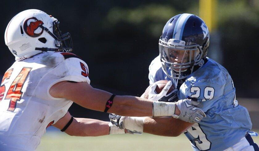 USD running back Jonah Hodges rushed for 1,214 yards in 2014.