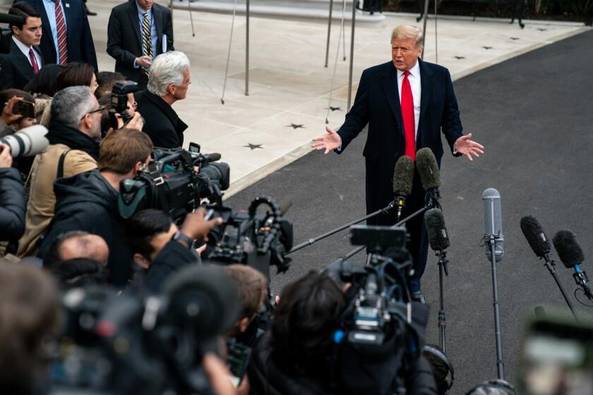 President Trump outside the White House