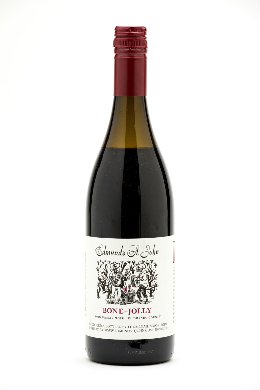 LOS ANGELES, CA - JUNE 15, 2018 - 2016 Bone-Jolly Gamay Noir, photographed in the Los Angeles Times