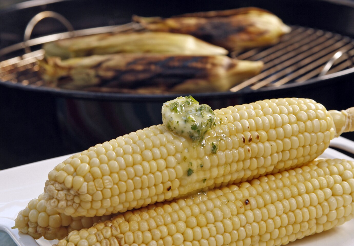 Grilled corn with tequila-lime butter