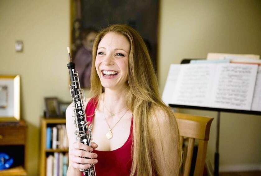 Jessica Pearlman is the the principal oboe player of the Costa Mesa-based Pacific Symphony.