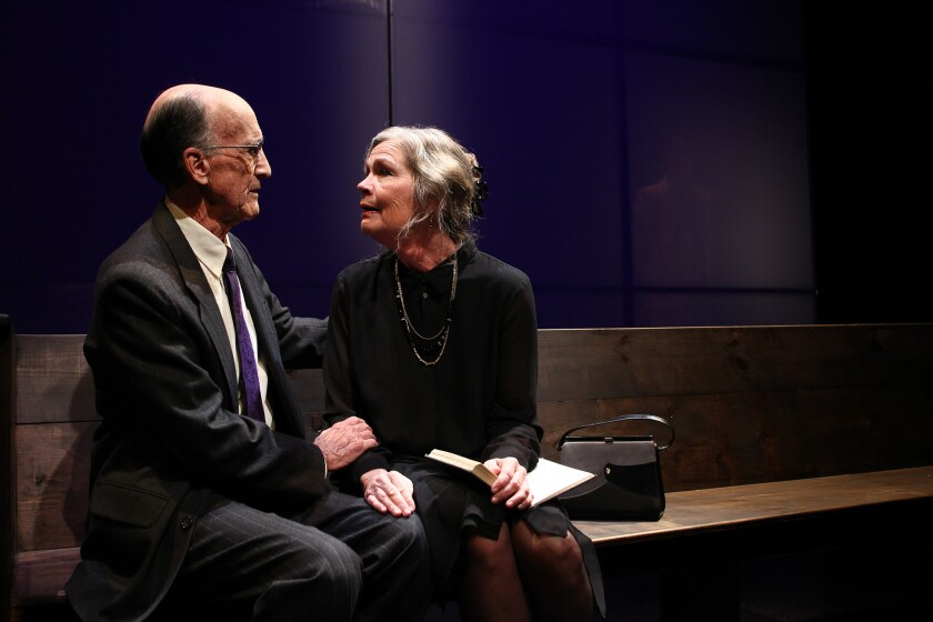 """Hal Landon Jr. and Linda Gehringer in """"Going to a Place Where You Already Are"""""""