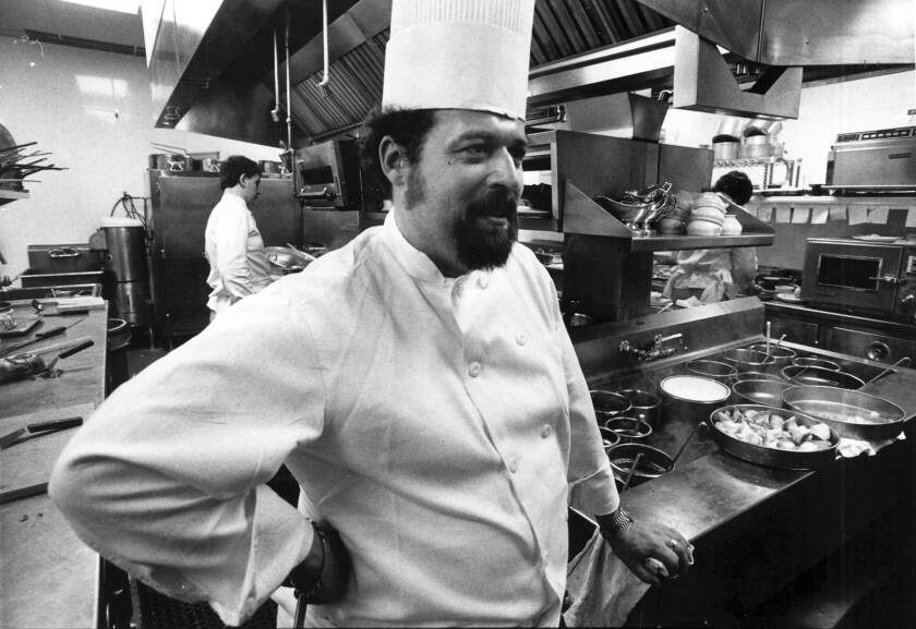 Chef Jean Banchet at Le Francais in Wheeling, Ill., in 1976. Banchet built his eatery in the suburb about 30 miles from Chicago because it was the closest place he could afford. Patrons would fly their private planes to a nearby airport to dine at his restaurant.