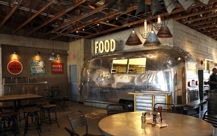 An old Airstream trailer is one of a number of quirky design elements in the OB Warehouse World Market coming to Ocean Beach.