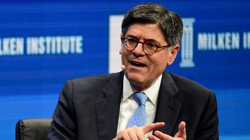 During an appearance at Tuesday's Milken Institute Global Conference in Beverly Hills, Treasury Secretary Jacob J. Lew warns that the Puerto Rico crisis is severe.