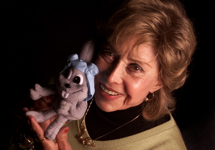 June Foray is shown at her Woodland Hills home on June 16, 2000.