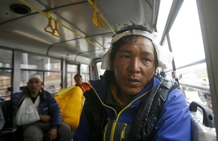 Mt. Everest avalanche survivors