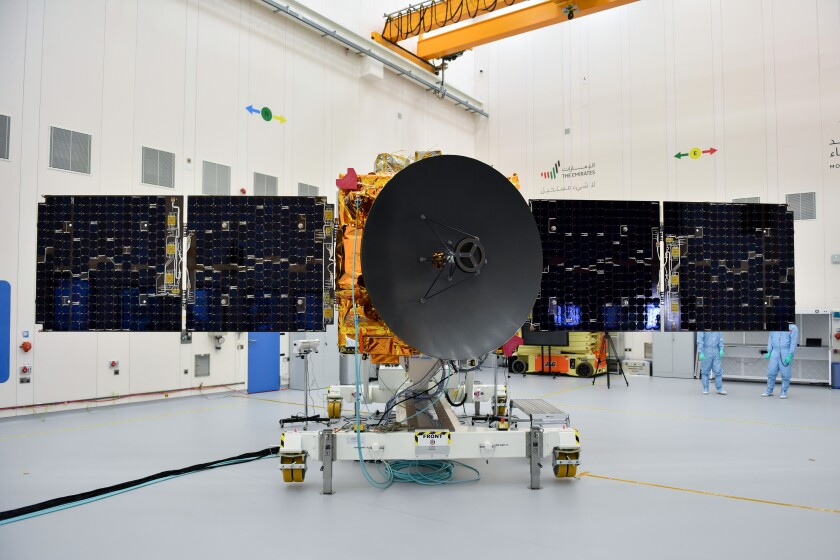 The Amal spacecraft from the United Arab Emirates