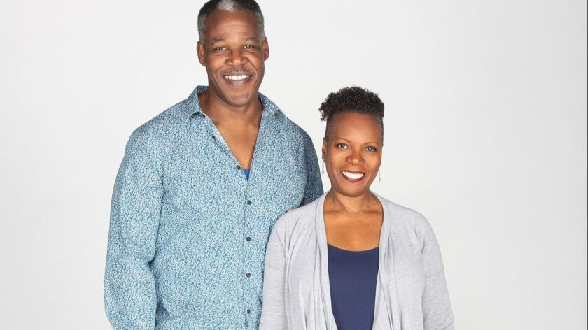 Danny Johnson and Cherene Snow in Familiar, running January 26 – March 3, 2019 at The Old Globe. P