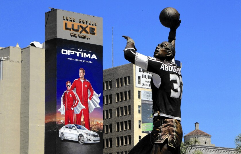 "Kia Motors America, whose advertisement is displayed on a building across from Staples Center, said it was suspending its advertising and sponsorship with the Los Angeles Clippers. The company, which features forward Blake Griffin in several commercials, called comments attributed to Clippers owner Donald Sterling ""offensive and reprehensible"""