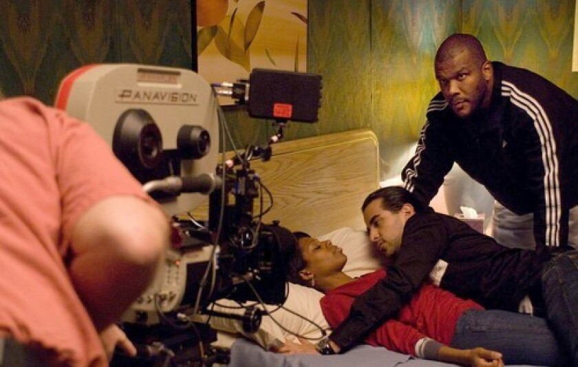 Tyler Perry on set