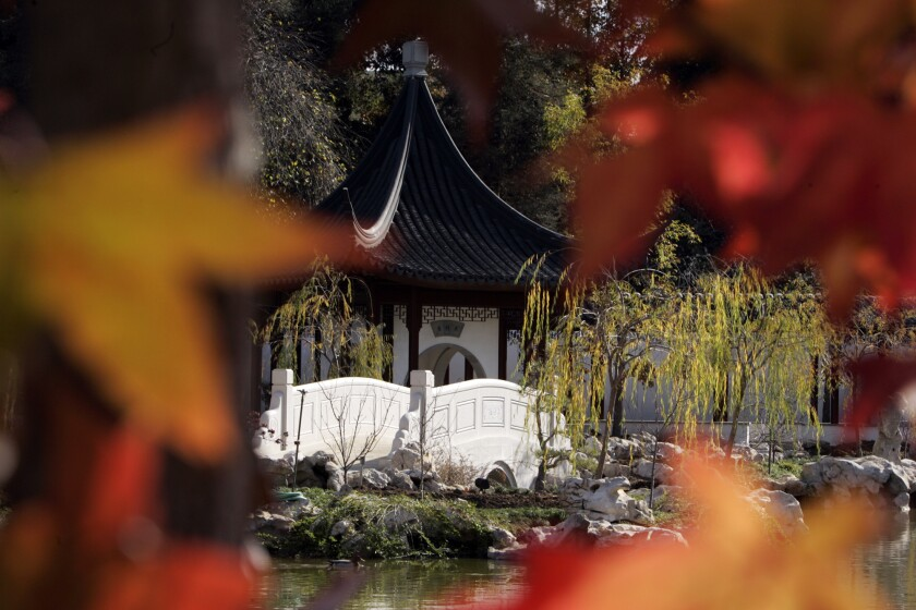 A former San Marino couple has donated $2 million to construct a pavilion for the Chinese Garden at the Huntington Library, shown.