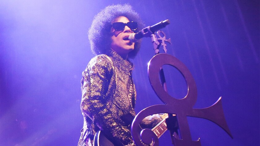 Prince performs on April 9 in Detroit.