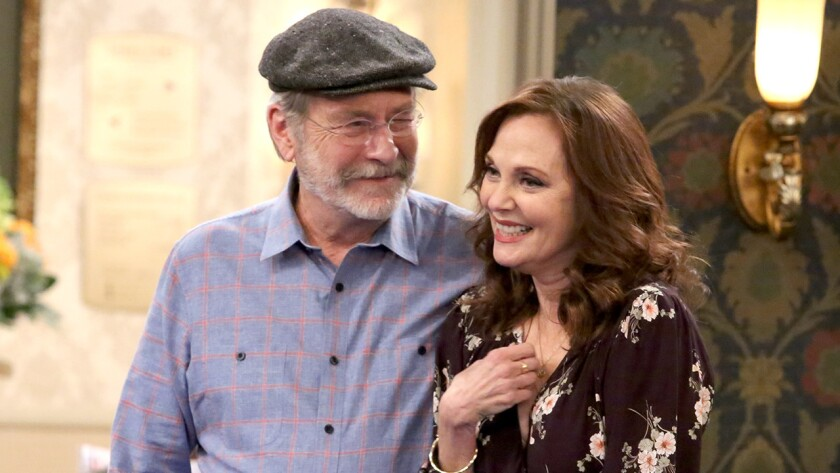 """Martin Mull and guest star Lesley Ann Warren in a new episode of the comedy """"The Cool Kids"""" on Fox."""