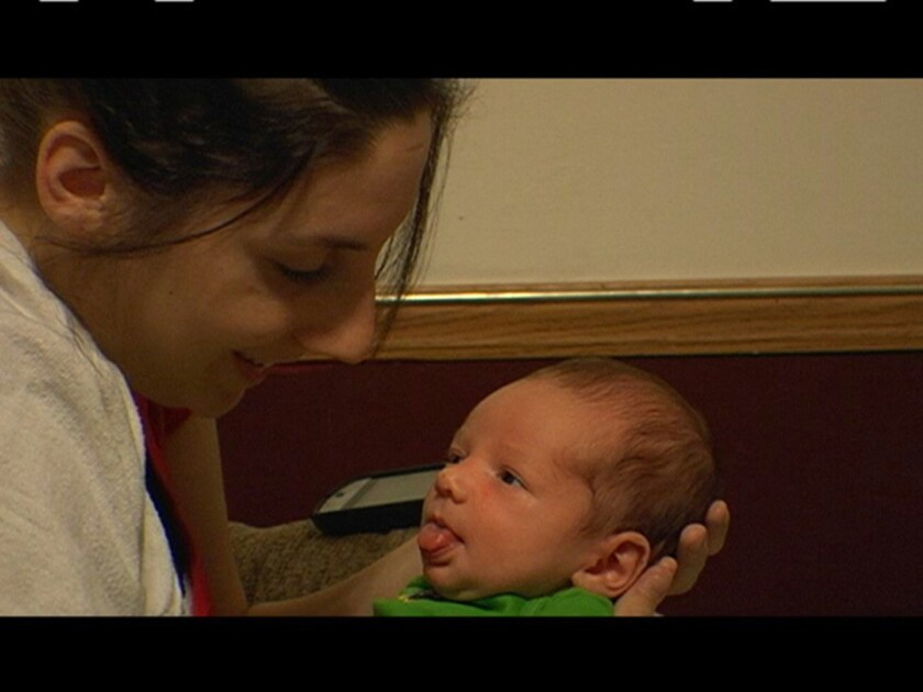 """Teenager Kayla and her son Preston as seen on the MTV reality show """"16 and Pregnant."""""""