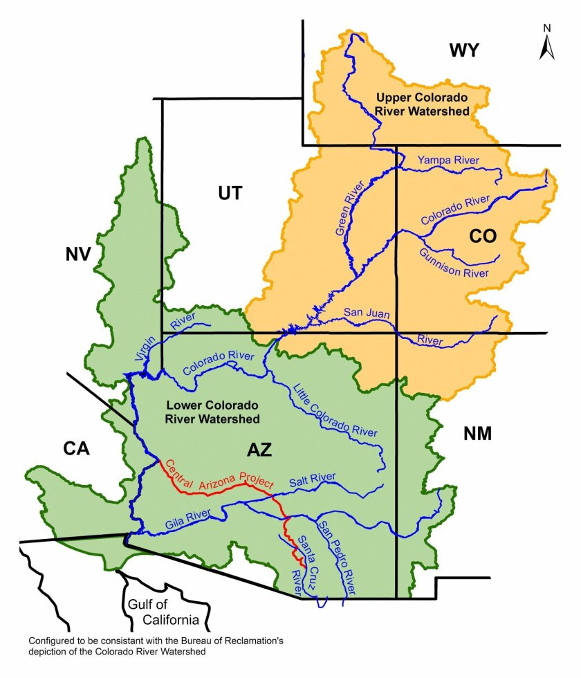 The Colorado River Basin.