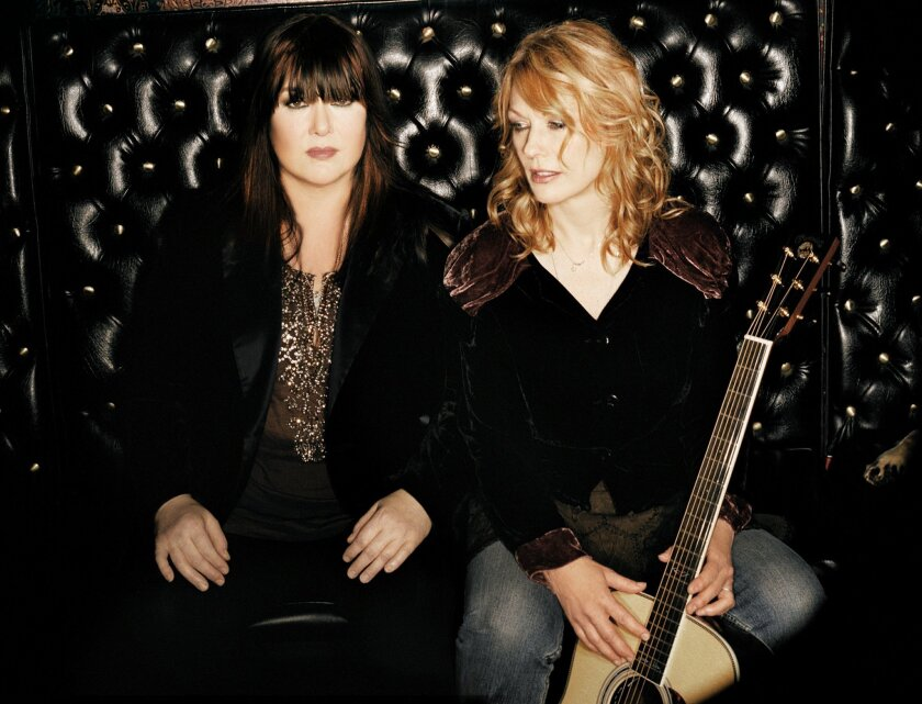 Ann and Nancy Wilson of the rock band Heart will perform at San Diego's Open Air Theatre on Aug. 26 with Jason Bonham's Led Zeppelin Experience. CREDIT: Heart