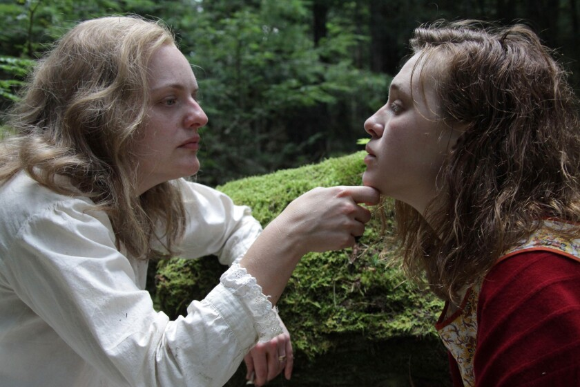 """Elisabeth Moss and Odessa Young in the movie """"Shirley."""""""