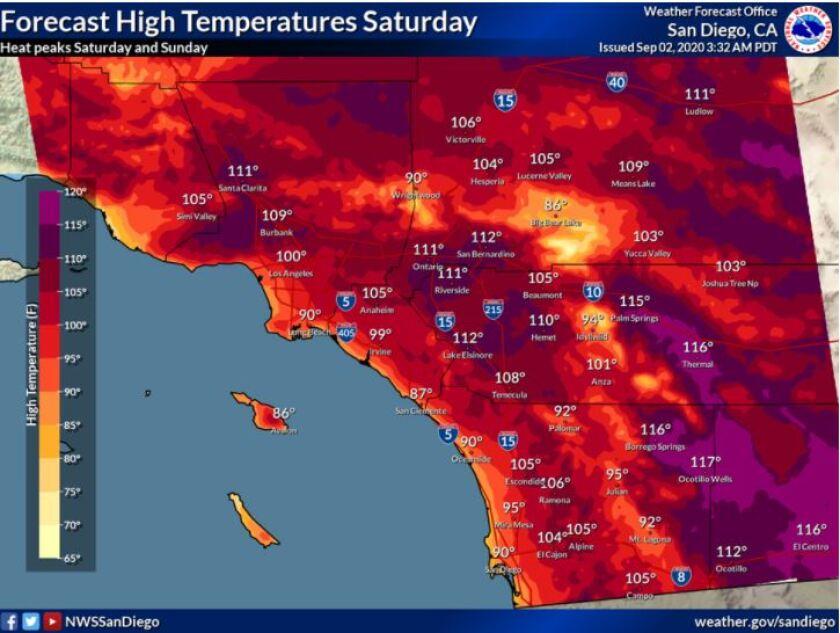 Pronóstico del Servicio Meteorológico Nacional para el sábado 5 de septiembre.