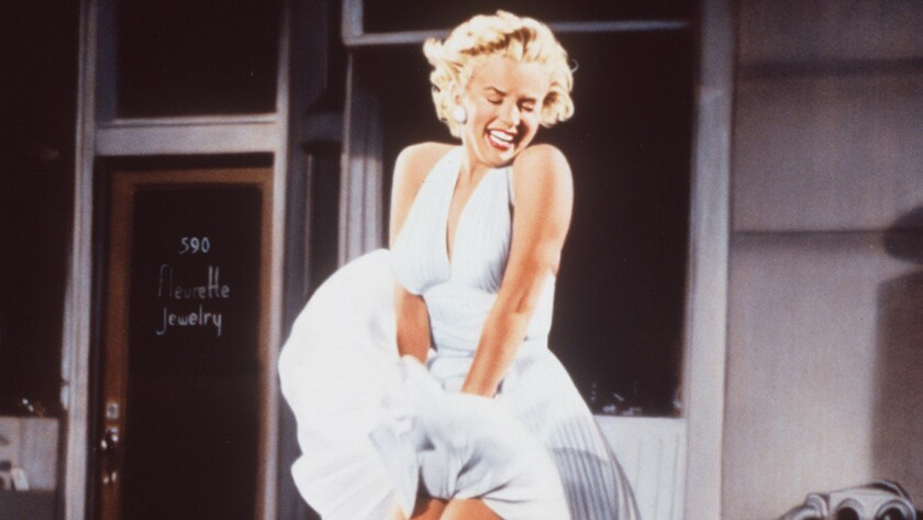 """Photo of Marilyn Monroe in """"Marilyn Monroe: 50 Years A Star.""""Photo/Art by:Anon. In the movie the """"Se"""