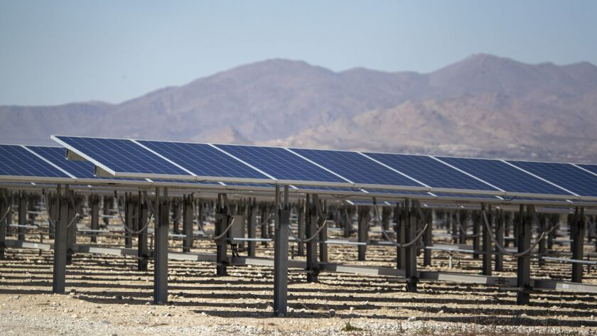 LUCERNE VALLEY, CALIF. -- MONDAY, FEBRUARY 25, 2019: A view of a smaller-scale commercial solar pro