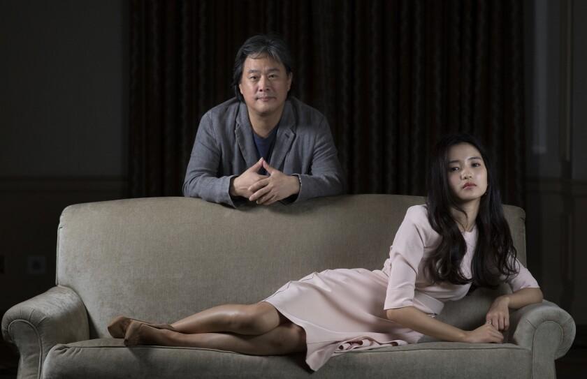 """The Handmaiden"" filmmaker Park Chan-wook and actress Kim Tae-ri."