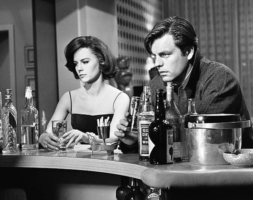 "Natalie Wood and Robert Wagner, husband and wife in real life, played lovers in ""All the Fine Young Cannibals"" in December 1959."