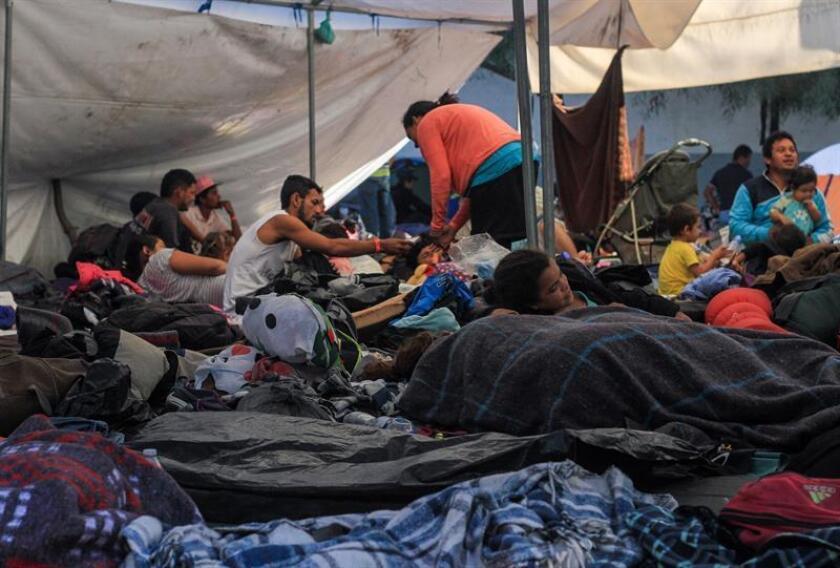 La caravana procedente de Honduras partió el 13 de octubre desde San Pedro Sula y algunos de sus miembros se encuentran ya en lado mexicano de la frontera. EFE