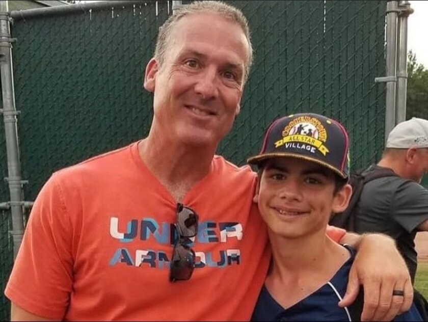 Steve Pirolli (left), 54, and son Stephen Pirolli Jr., 13