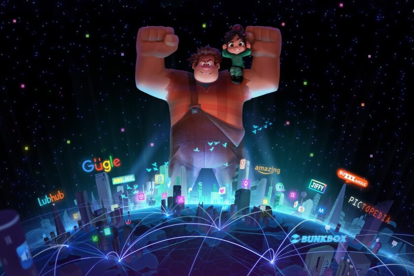 Ralph (voiced by John C. Reilly) and Vanellope (Sarah Silverman) take on the Internet in 'Wreck It Ralph 2.'