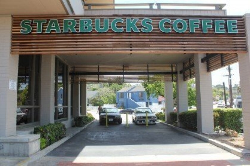Starbucks is proposing to turn this former bank drive-thru into an outdoor patio area for its customers. Pat Sherman