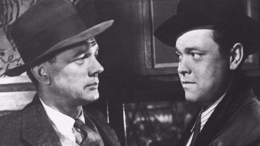 """Joseph Cotten, left, and Orson Welles in """"The Third Man."""""""