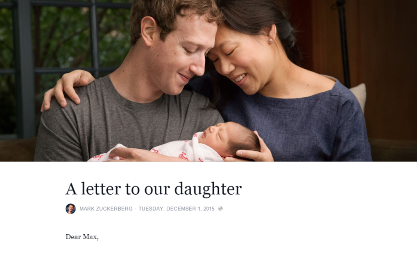 Mark Zuckerberg and Priscilla Chan pledge to donate 99% of