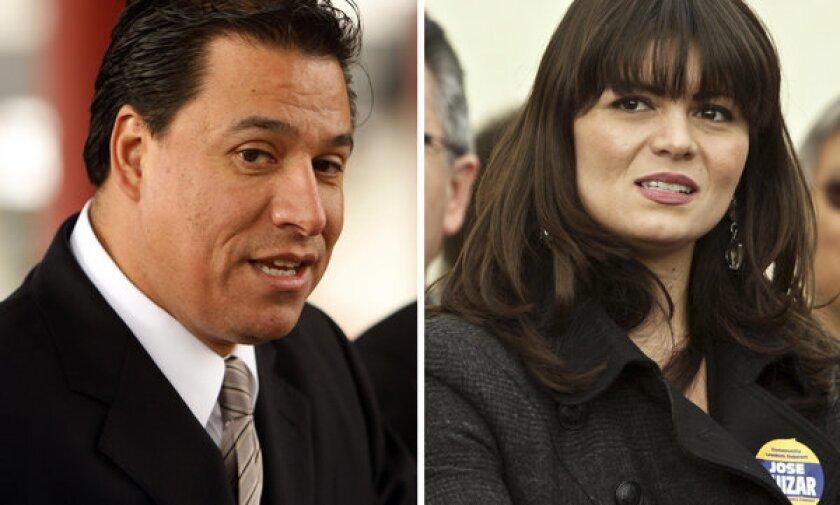 Jose Huizar and Francine Godoy