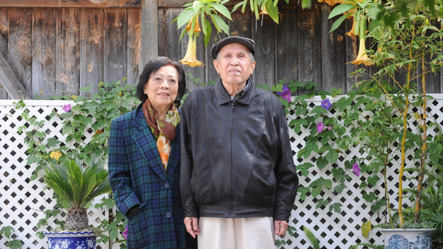 Vo Phien, a writer who preserved literature and other written work produced during the Vietnam War, wanted to pay tribute to important voices in history. Above, Vo with his wife, Vien Pho, at their home in Santa Ana in 2010.
